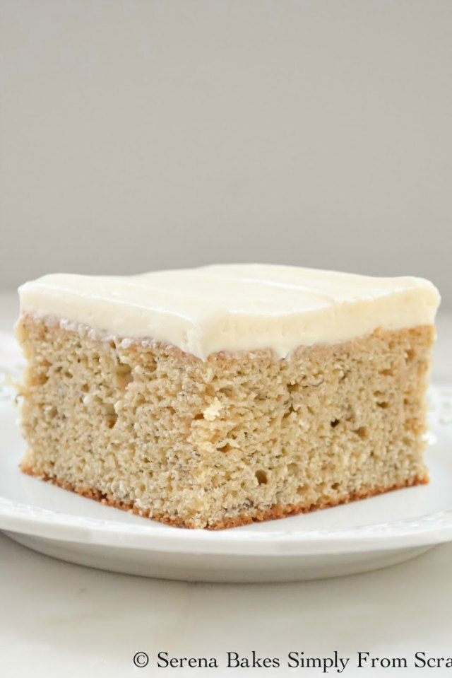 Banana Cake with Cream Cheese Frosting from Serena Bakes Simply From Scratch.