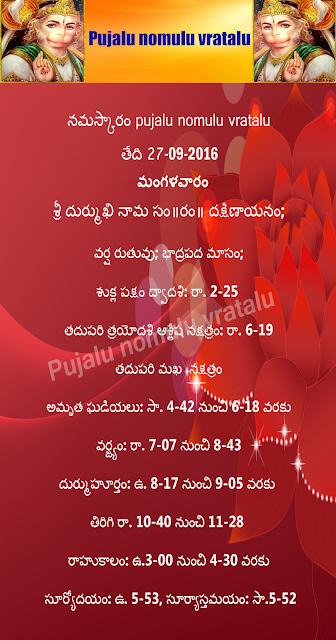 Today's Panchangam in Telugu,hanuman chalisa