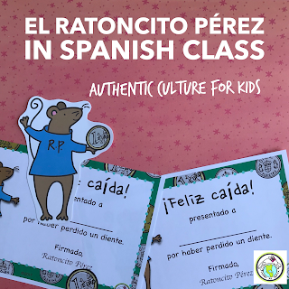 Ratoncito Perez is authentic culture for kids in Spanish class