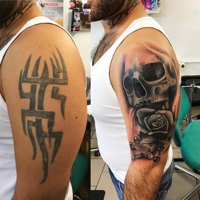 how to cover up a tattoo with another tattoo