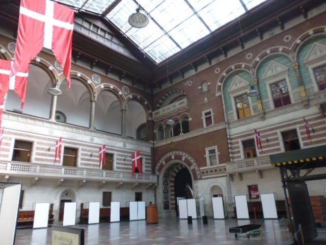 Salón principal del Ayuntamiento de Copenhague