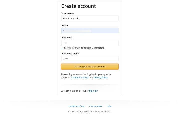 Create Amazon Affiliate Account