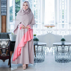 Gamis Dress Mutiara Dusty Brown
