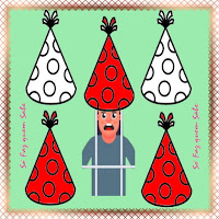 Os cinco chapéus utilizados no enigma dos prisioneiros