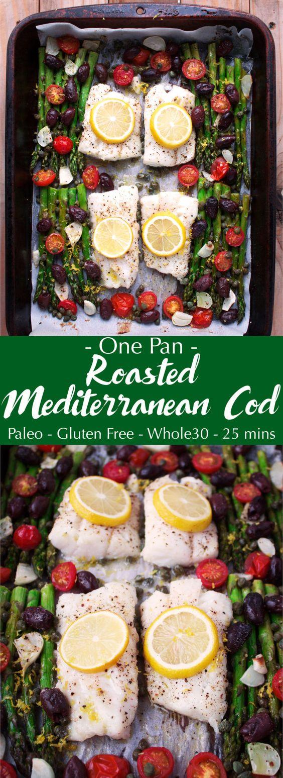 ONE PAN ROASTED MEDITERRANEAN COD