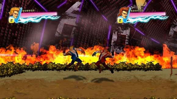 Free Download Double Dragon Neon PC Game Fight as twin brothers Billy and Jimmy Lee on an  Double Dragon Neon-RELOADED