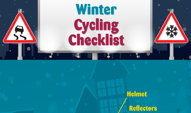 Winter Cycling Checklist #infographic
