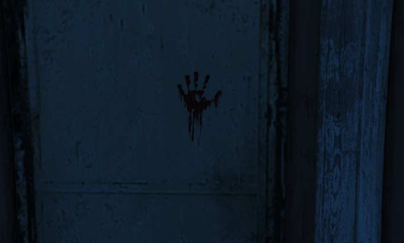 Bloody handprint: the 2nd clue
