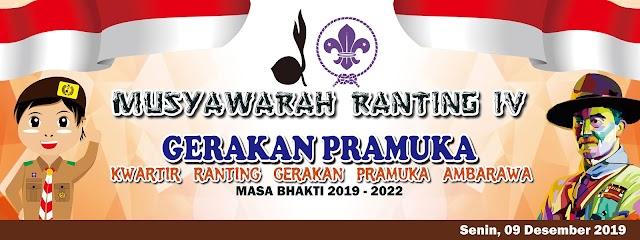 Desain Banner Musyawarah Ranting Gerakan Pramuka Ambarawa