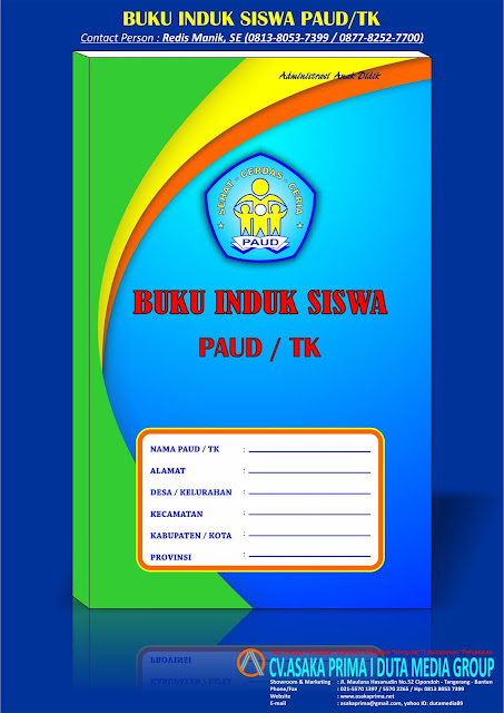 buku induk paud, buku induk tk, buku administrasi paud, buku administrasi sekolah, jual buku administrasi sekolah