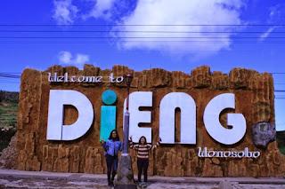 Foto DP bbm wisata Dieng Wonosobo Jawa Tengah Indonesia