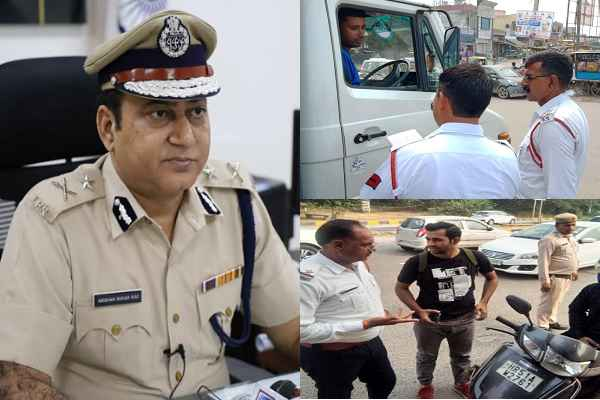 faridabad-police-started-traffic-rule-awareness-campaign-13-15-september