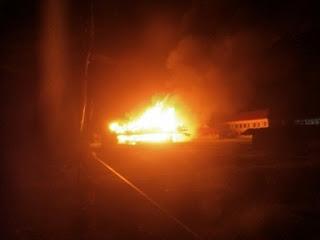Kantor lama Bupati Yalimo terbakar