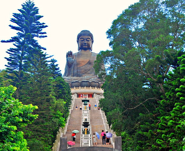 Stairway to the Tian Tan Buddha Hong Kong