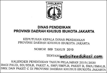 Kalender Pendidikan DKI Jakarta Tahun 2019/2020