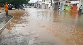 Tanhaçu depois de forte chuva