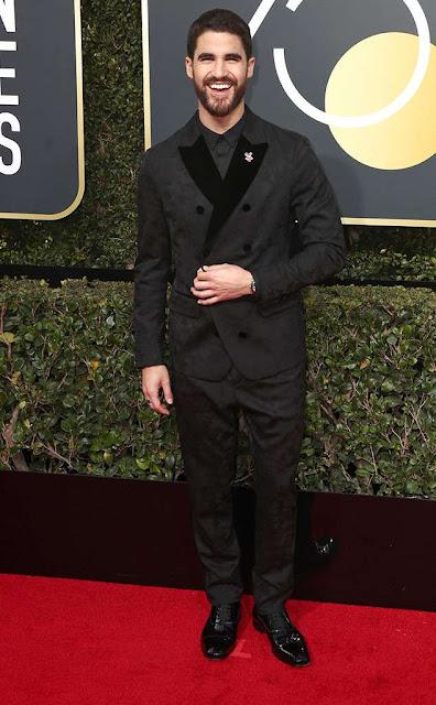 Golden Globes 2018, Red Carpet, Alfombra Roja, Tuxedos, Trajes, Ternos, Hombres, Looks, Outfits, Premiación, Masculinos, Estilismos, Vestir bien, Darren Criss