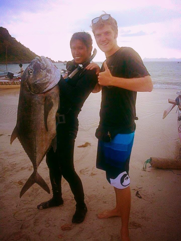 Spearfishing Spanish Mackerel, Red bass, Cod, Maori seaperch, Grouper, GT, Giant Trevally and Black Trevally Lombok, Gili Trawangan Indonesia