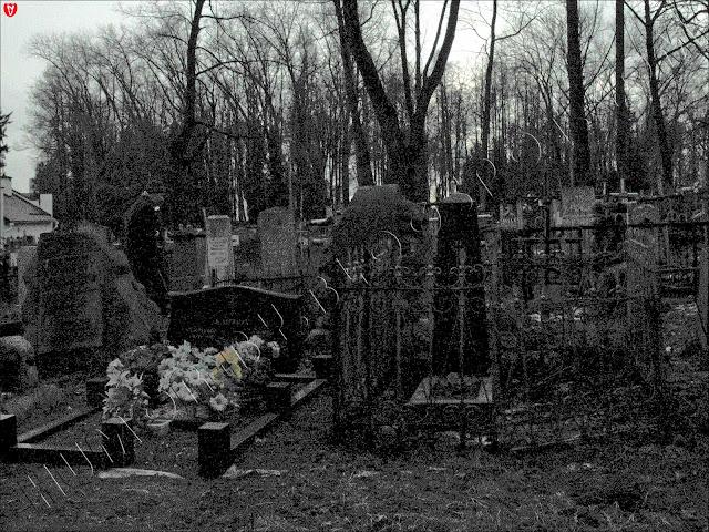 Минск. Вандал на Кальварийском кладбище