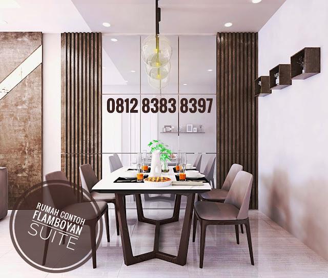 Ilustrasi Ruang Makan Rumah Murah 500 Jutaan Dekat Simpang Pemda Medan, Diskon 40 Juta, Tipe 70, Tinggi Plafon 5,25 M