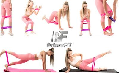 Фитнес ластици за тренировка Prima Fit - 5 броя, Онлайн Видео с 50 упражнения