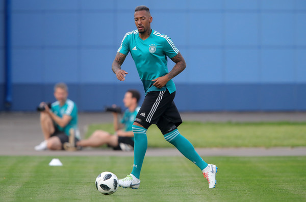 Jerome Boateng in training with Germany during russia 2018 world cup