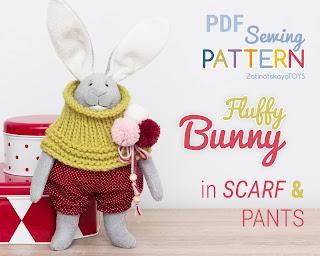Easter bunny pattern sewing tutorial diy