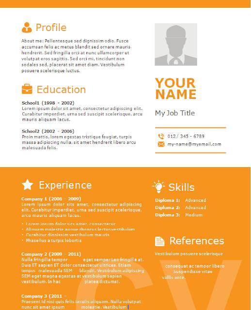 Download Curriculum Vitae CV Resume Templates - IT Classes