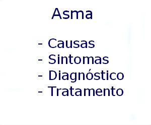 Asma causas sintomas diagnóstico tratamento prevenção riscos complicações