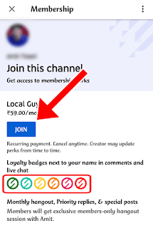 Channel Membership on YouTube