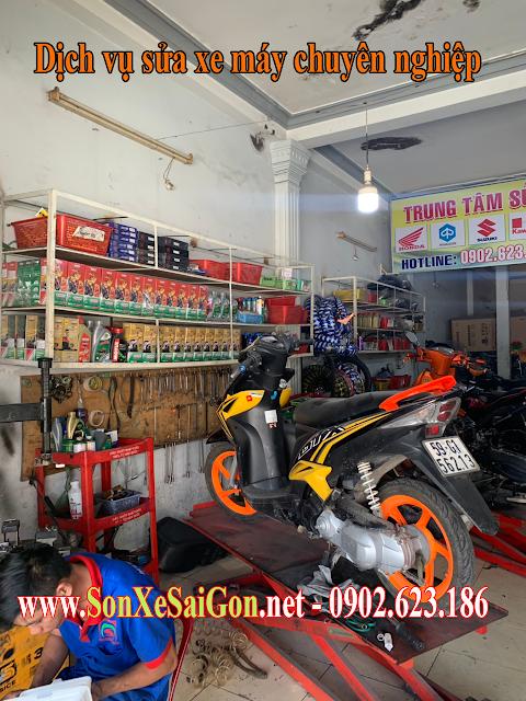 Sửa xe tay ga Yamaha Luvias chuyên nghiệp tại Tp.HCM