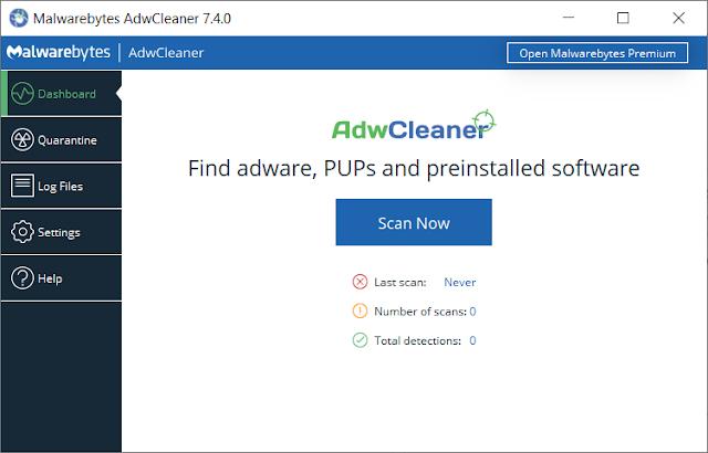 AdwCleaner 7.4.2.0 + Crack - Phần mềm diêt virut