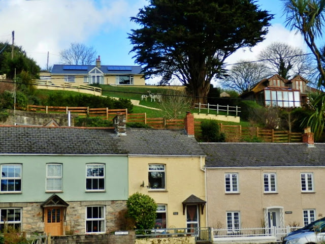 Pentewan Village cottages, Cornwall