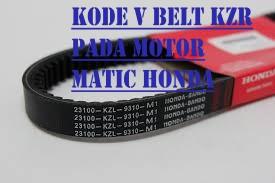 Kode V Belt KZR Pada Motor Matic Honda