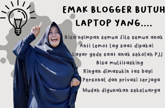 kebutuhan emak blogger