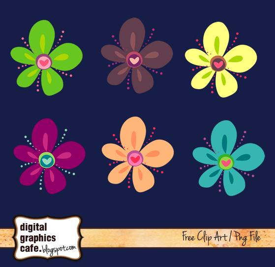 free scrapbook flower clipart - photo #6