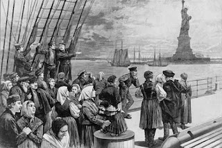 Llegada emigrantes a Nueva York