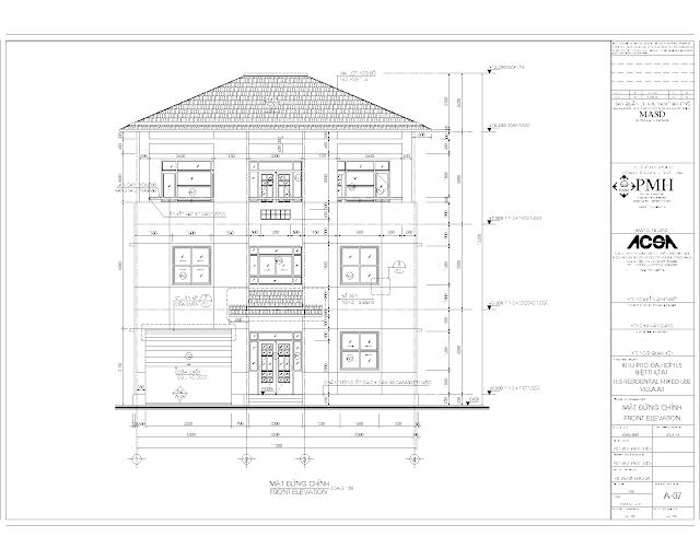 Hồ sơ thiết kế biệt thự mẫu  Villa 1 Phú Mỹ Hưng