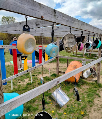 Pots and pans for outdoor musical instruments