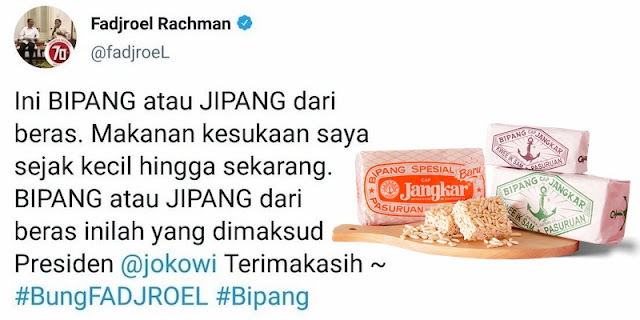 Fadjroel Rachman Mencoba Luruskan Pernyataan Jokowi Tentang Bipang Ambawang