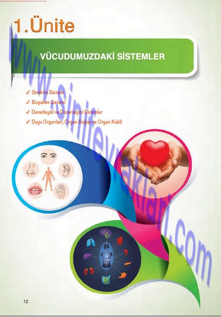 7. Sınıf Fen Bilimleri Mevsim Yayınları Ders Kitabı Cevapları Sayfa 12