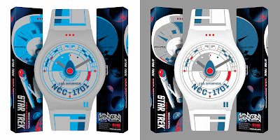 Star Trek U.S.S. Enterprise Vannen Artist Watches by Tom Whalen