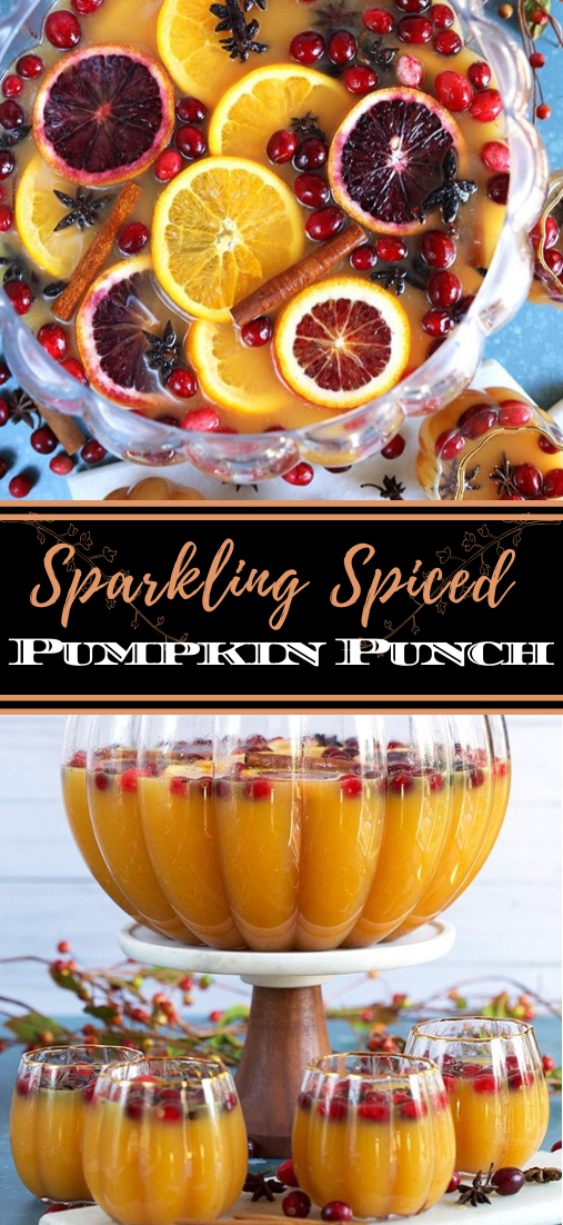 Sparkling Spiced Pumpkin Punch  #healthydrink #easyrecipe #cocktail #smoothie