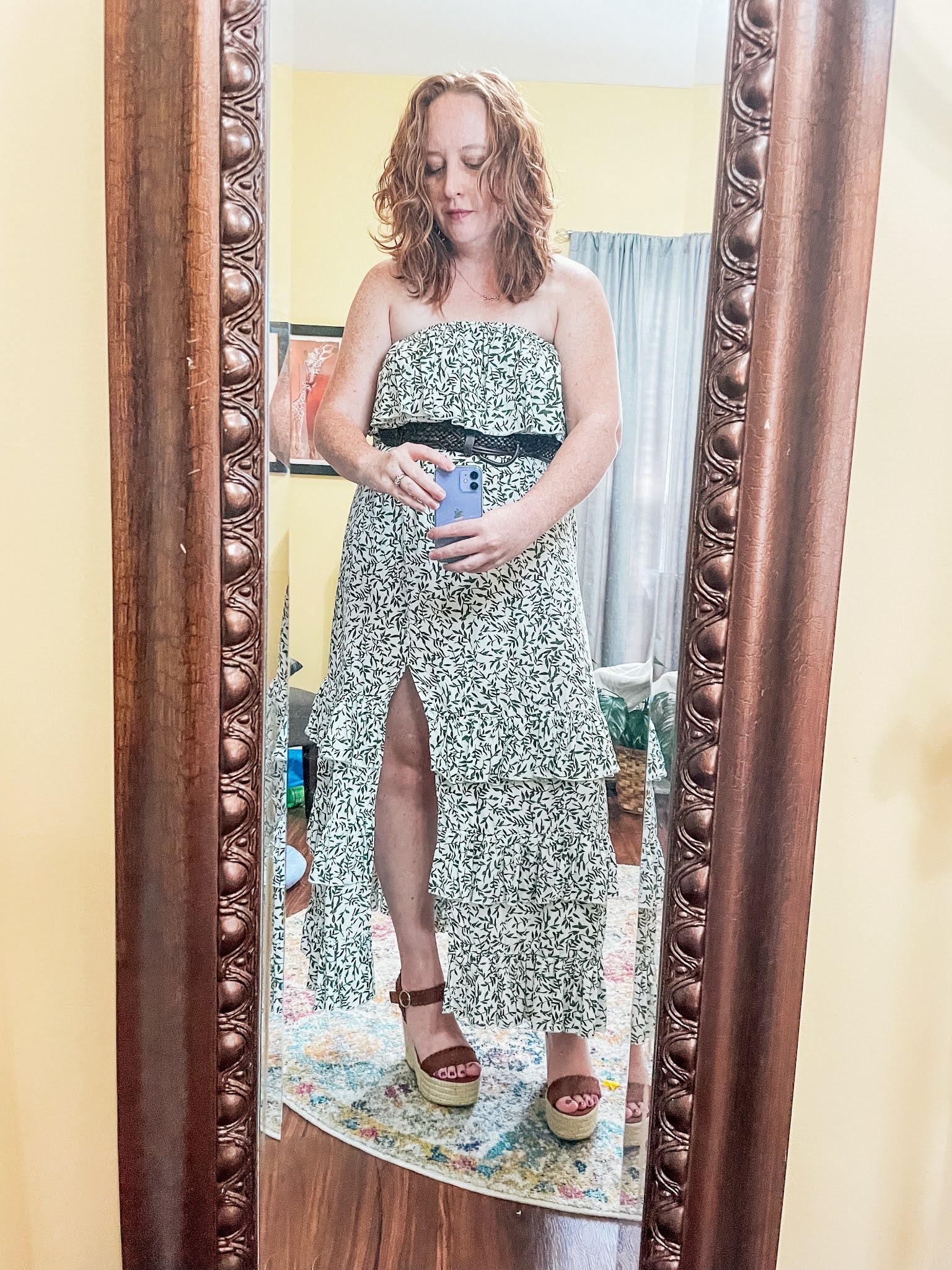 green-floral-off-shoulder-maxi-dress