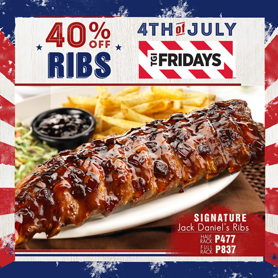 TGIFRIDAY's in DAVAO 4TH OF JULY PROMO