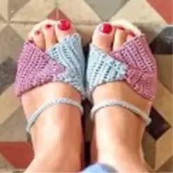 Sandalias Bicolor a Crochet