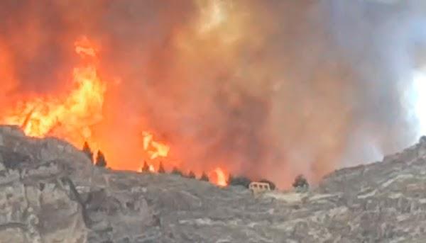 Las llamas entran en el Tamadaba