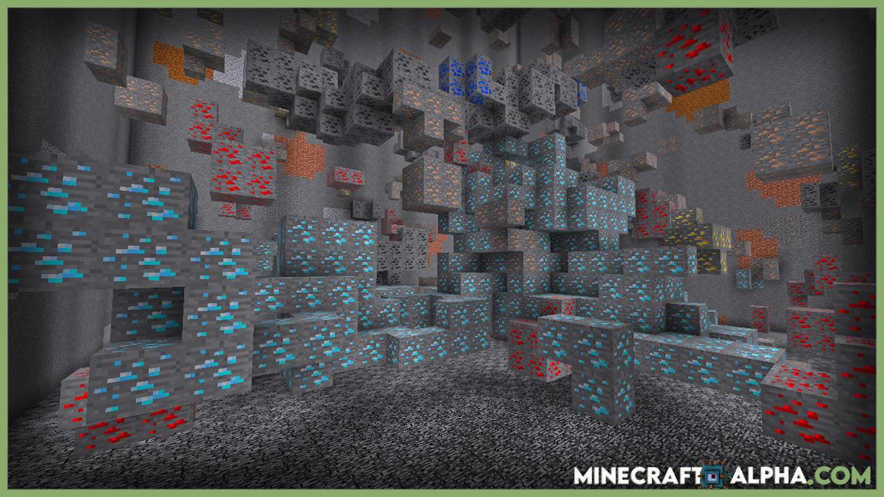 Minecrfaft Large Ore Deposits Mod 1.16.5 (Rare, Super-Massive Ore Deposits)