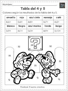 Cuaderno de multiplicar
