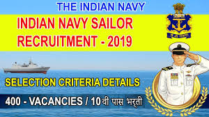 The Indian Navy Invites Online Applications From Unmarried Male Candidates for enrolment as Sailors 400 Posts /2019/11/The-Indian-Navy-Invites-Online-Applications-From-Unmarried-Male-Candidates-for-enrolment-as-Sailors-400-Posts.html